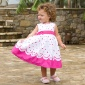 Fuchsia Spot Party Dress (Hong Kong)