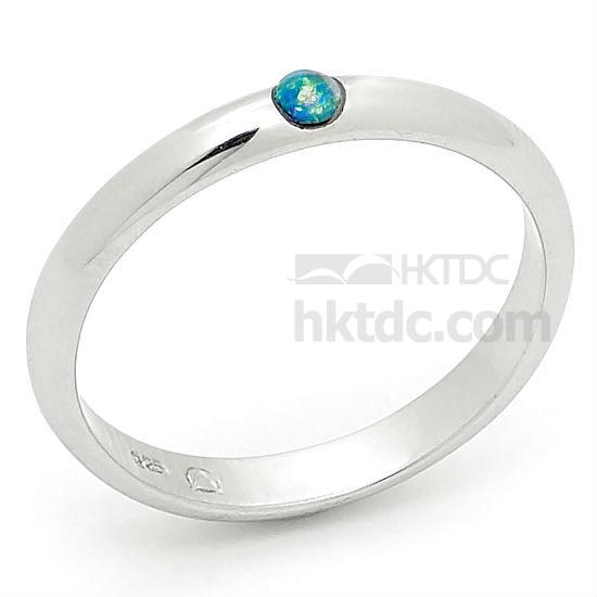 Sterling Silver Opal Ring (Hong Kong)