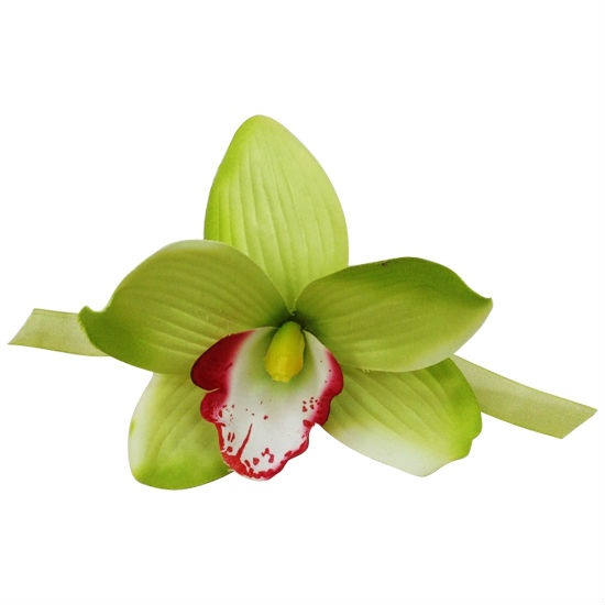 Ornamento Cattleya artificial da flor (Hong Kong)
