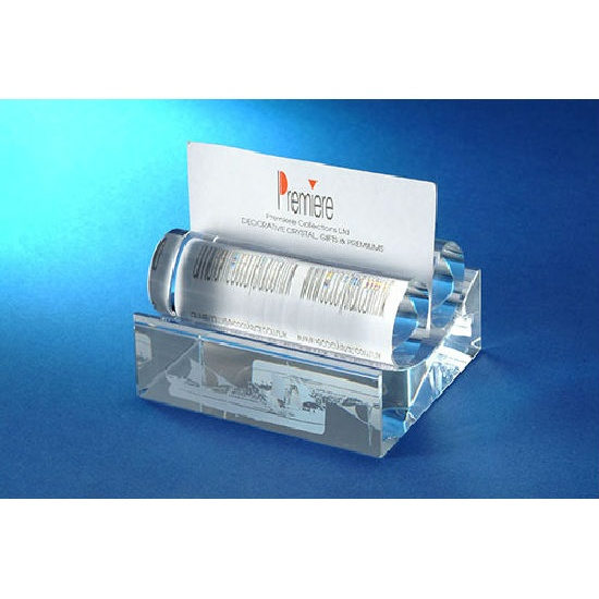 Crystal Name Card Stand with 2 Rolls (Hong Kong)