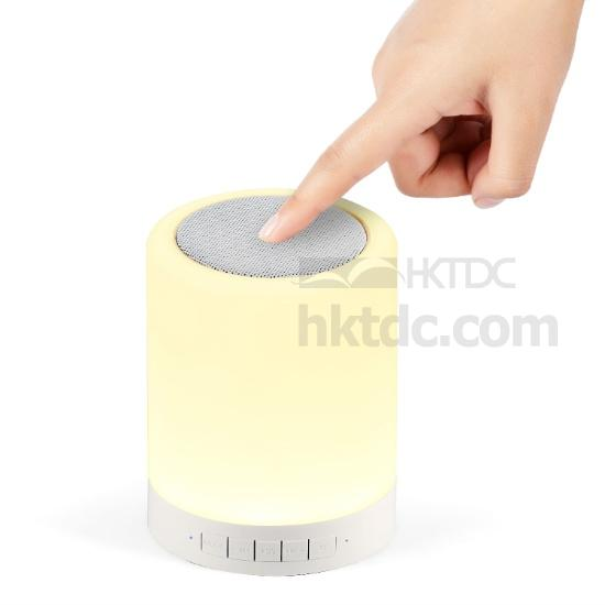 Altavoz con Bluetooth con Lámpara de LED (Hong Kong)
