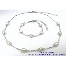 Keshi Pearl with 925 Sterling Silver Chain (Hong Kong)