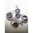 18K White Gold With Diamonds, Amethyst (Singapore)