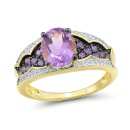 Amethyist Diamond Ring (Hong Kong)